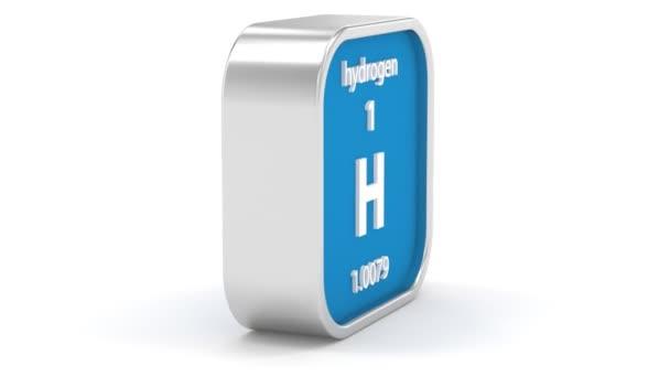 Signe matériel d'hydrogène — Vidéo