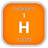 Hydrogen material sign — Stock Photo