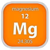 Magnesium material sign — Stock Photo