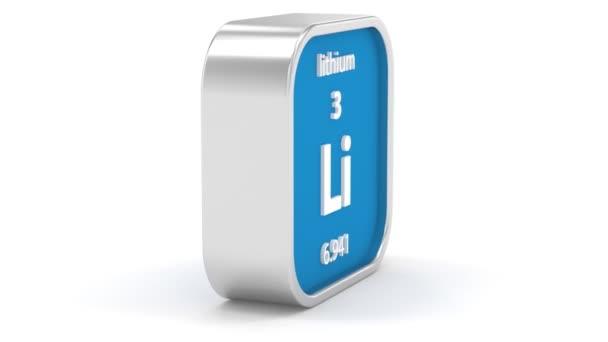 Signe matériel au lithium — Vidéo