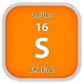 Sulfur material sign — Stock Photo