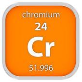 Chromium material sign — Stock Photo
