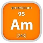 Americium material sign — Stock Photo #73534281