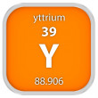 Yttrium material sign — Stock Photo #73533219