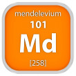 Mendelevium material sign — Stock Photo #73534629