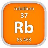 Rubidium material sign — Stock Photo