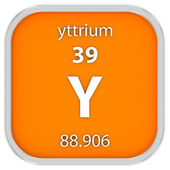 Yttrium material sign — Stock Photo