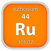 Ruthenium material sign — Stock Photo