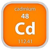 Cadmium material sign — Stock Photo