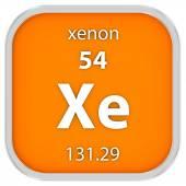 Xenon material sign — Stock Photo