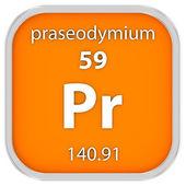Materiální znak praseodym — Stock fotografie