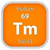 Thulium material sign — Stock Photo