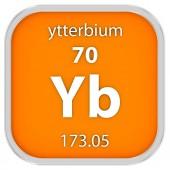 Materiální znak ytterbium — Stock fotografie