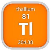 Thallium material sign — Stock Photo