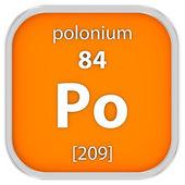 Polonium material sign — Stock Photo