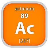 Actinium material sign — Stock Photo