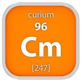 Curium material sign — Stock Photo