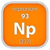 Neptunium material sign — Stock Photo