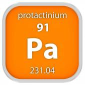 Protactinium material sign — Stock Photo