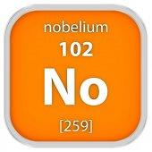 Nobelium material sign — Stock Photo