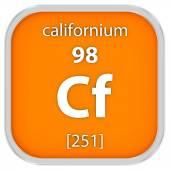 Californium material sign — Stock Photo