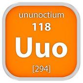 Ununoctium material sign — Stock Photo