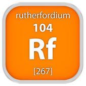 Materiální znak rutherfordium — Stock fotografie