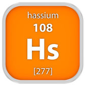 Hassium material sign — Stock Photo