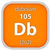 Dubnium material sign — Stock Photo