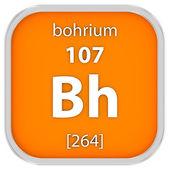 Bohrium material sign — Stock Photo