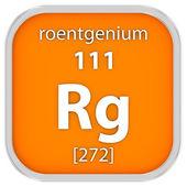 Roentgenium material sign — Stock Photo
