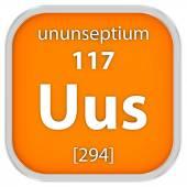 Ununseptium material sign — Stock Photo