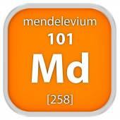 Mendelevium material sign — Stock Photo
