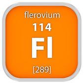 Flerovium material sign — Stock Photo