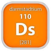 Darmstadtium material sign — Stock Photo