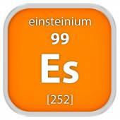 Einsteinium materiálu znamení — Stock fotografie
