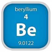 Beryllium material sign — Stock Photo