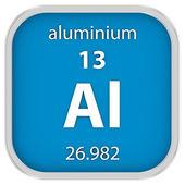 Aluminium material sign — Stock Photo