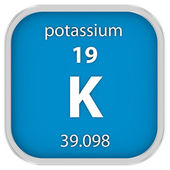 Potassium material sign — Stock Photo