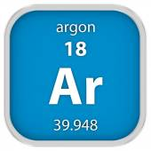 Argon material sign — Stock Photo