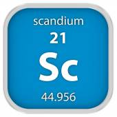 Scandium material sign — Stock Photo