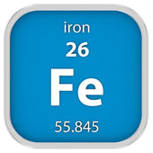 Iron material sign — Stock Photo