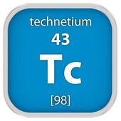 Technetium material sign — Stock Photo
