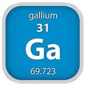 Gallium material sign — Stock Photo