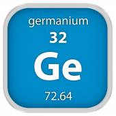 Germanium material sign — Stock Photo