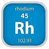Rhodium material sign — Stock Photo