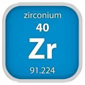 Zirconium material sign — Stock Photo