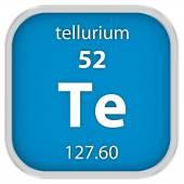 Tellurium material sign — Stock Photo