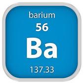 Barium material sign — Stock Photo