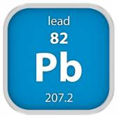 Lead material sign — Stock Photo